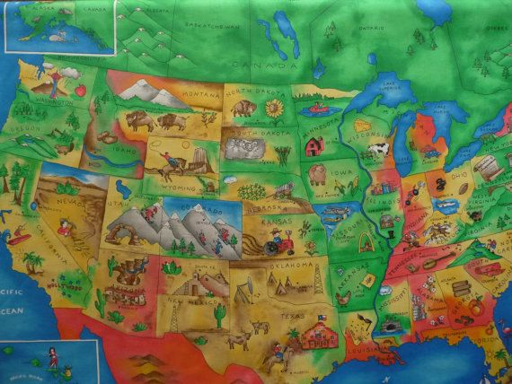 united states map fabric Fabric Map Panel Us Map Fabric United States Map Fabric 44