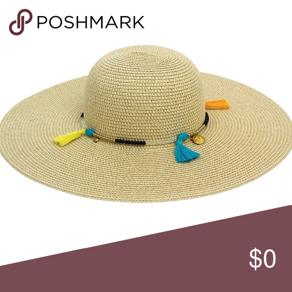 351b4414 Magid Straw Hat Summery straw hat featuring tassels, charms, and beads.  Perfect to wear by the pool ☀ Brand new Good quality! 15% of this purchase  will ...