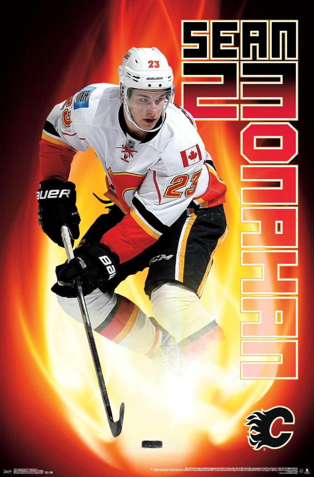 Nhl Sean Monahan Calgary Flames 14 Calgary Flames Calgary Vancouver Canucks Logo
