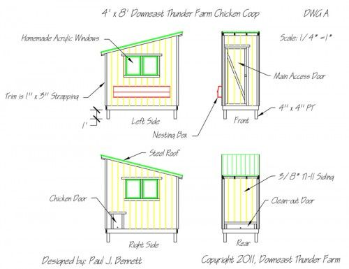 Chicken Coop Blueprints Free