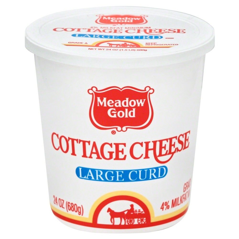 Meadow Gold Large Curd Cottage Cheese 24oz Cottage Cheese Cheese Sour Cream