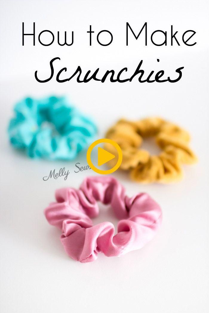 How to make scrunchies - DIY hair ties tutorial - Melly Sews #scrunchiesdiy