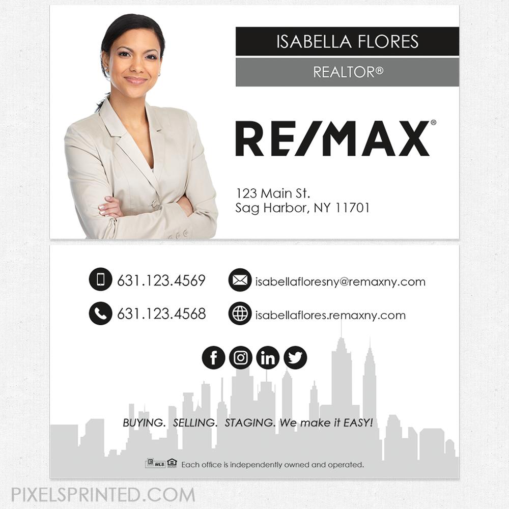 Remax business cards, RE/MAX business cards, Remax cards, realtor ...