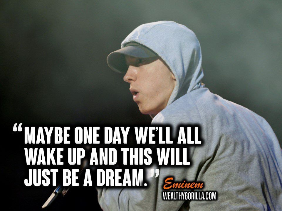 There's no doubt about it; Eminem is a lyrical genius. Self ...