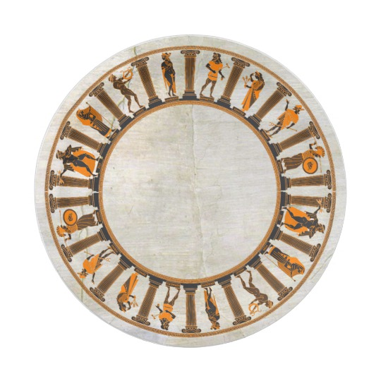 Ancient Greek Temple Graphic On Plaster Pattern Paper Plate Zazzle Com Pattern Paper Greek Temple Ancient