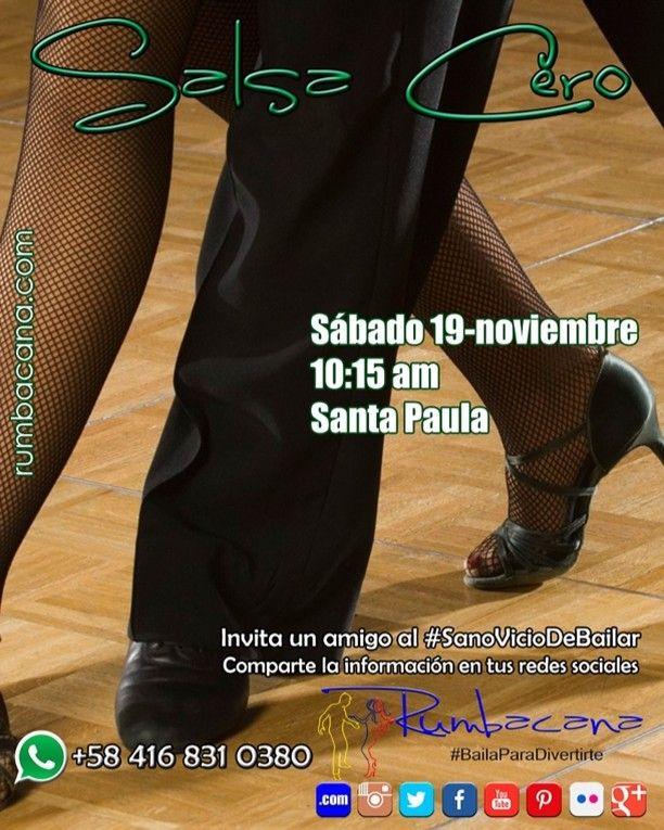 Aprende a Bailar #Salsa  Hoy sábado 19 de noviembre  Santa Paula - 10:15am  Invita un amigo al #SanoVicioDeBailar comaprtiendo en tus redes sociales esta imagen... #Rumbacana #BailaParaDivertirte  #Baila #Baile #Bailar #YoBailoSalsa  #Venezuela #Caracas