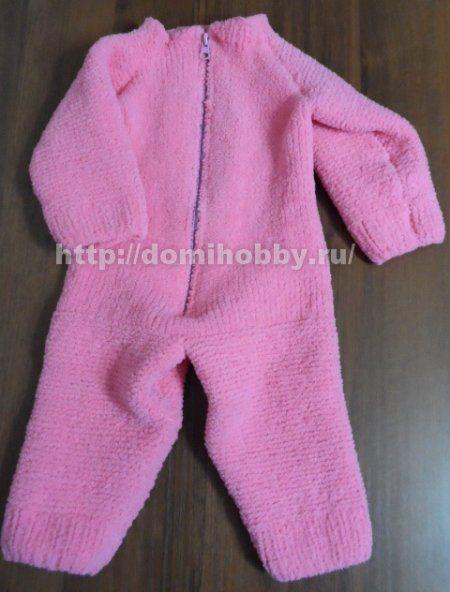 Комбинезон спицами для малыша