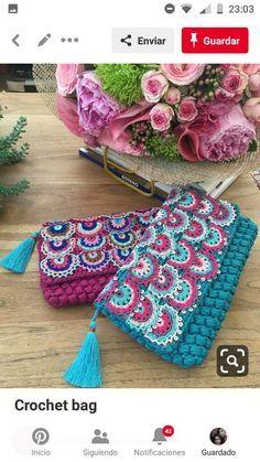 How To Crochet A Shell Stitch Purse Bag - Crochet Ideas