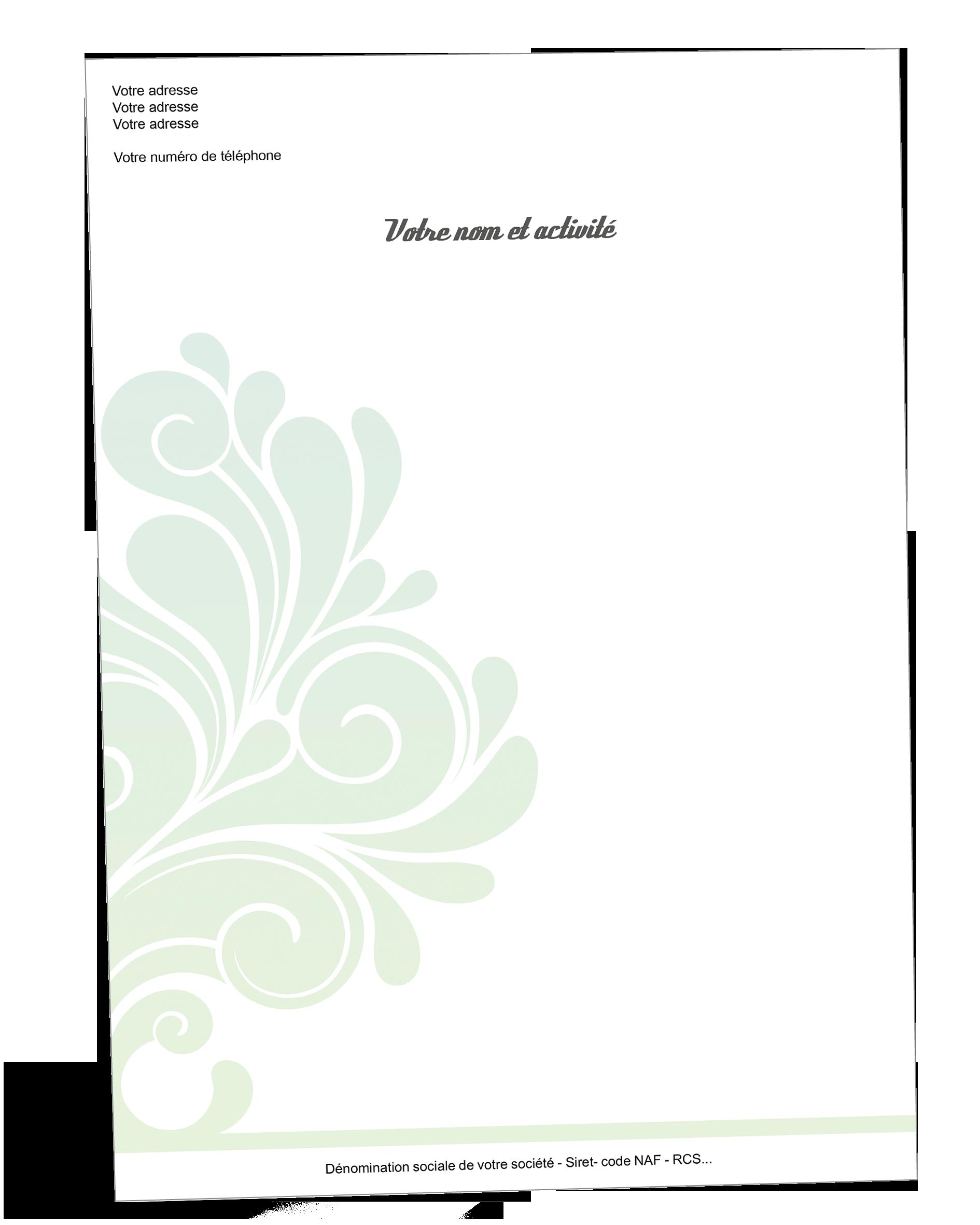 Papier A En Tete Arabesque Entete De Lettre Papier Arabesque