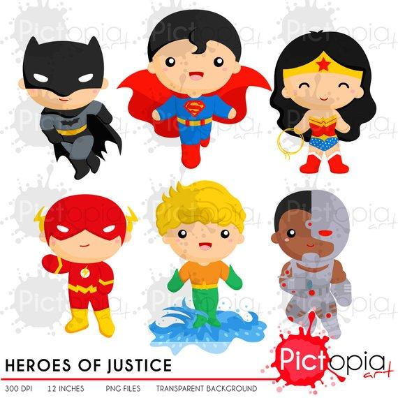 Heroes Of Justice Clip Art Cute Kids Superhero Clipart Include Svg In 2021 Superhero Clipart Clip Art Card Making Inspiration
