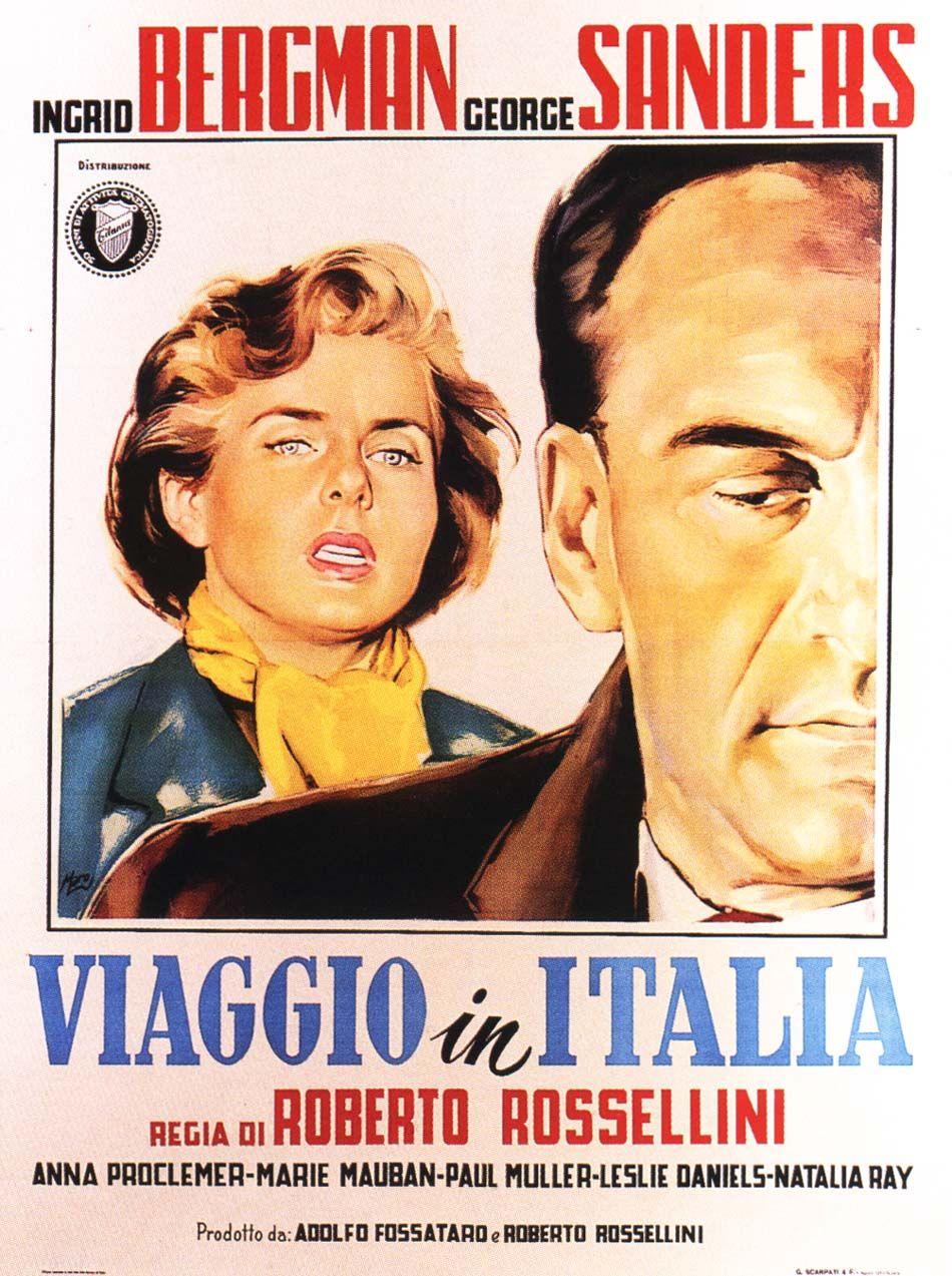 """""""Viaggio in Italia"""" 1954 di Roberto Rossellini. Con Ingrid"""