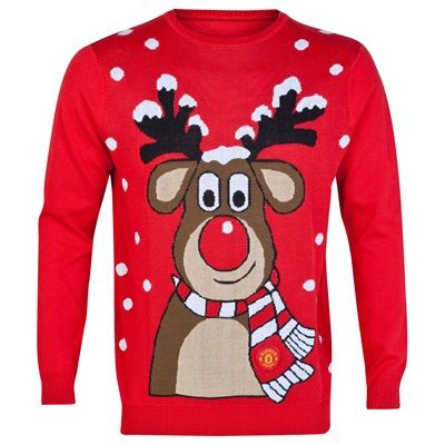 Manchester United Christmas Jumper Red Adult Stuff I Like