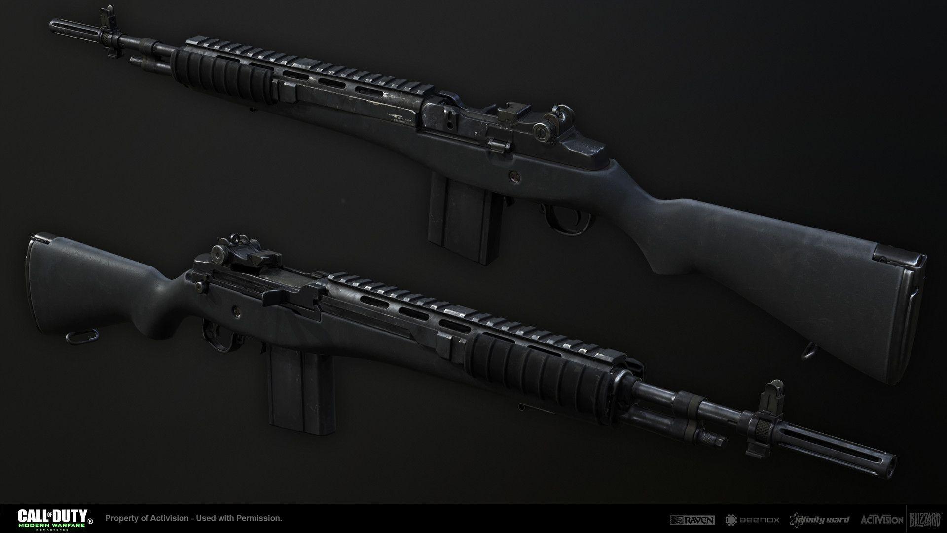 Artstation Modern Warfare Remastered M14 Ethan Hiley Modern Warfare Warfare Call Of Duty