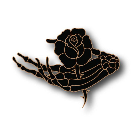 PREORDER Life and Death Skeleton Hand Enamel Pin