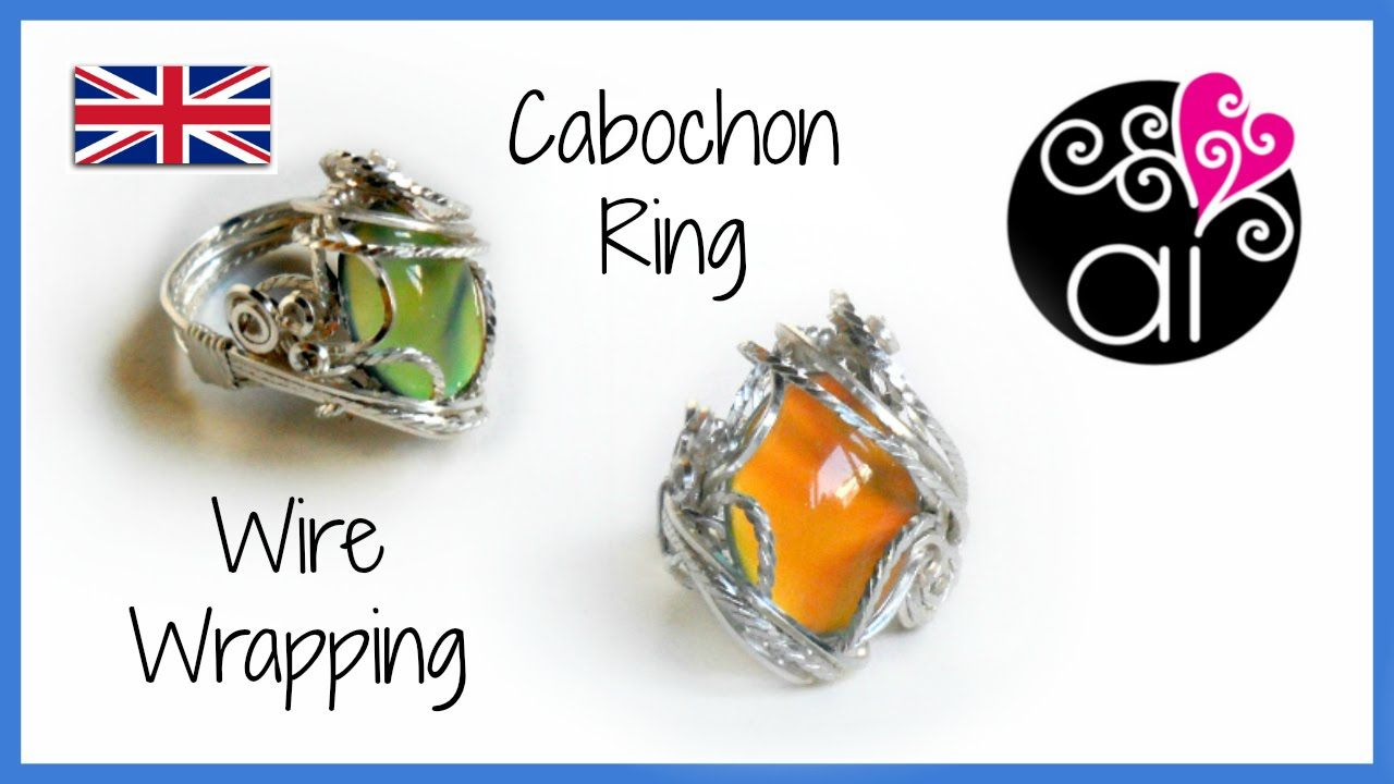Wire wrapping Cabochon Ring Tutorial | ENG Version | wire jewelry ...