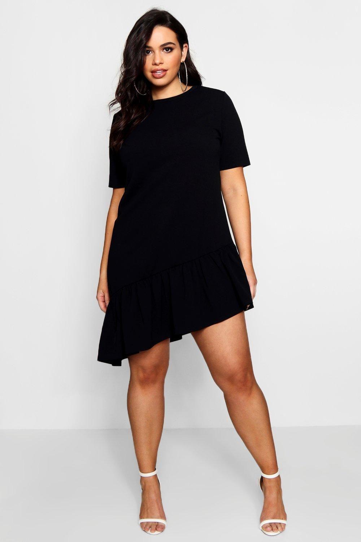 f08ed6963a12f Plus Asymmetric Hem Shift Dress | Riley Ticotin | Dresses, Fashion ...