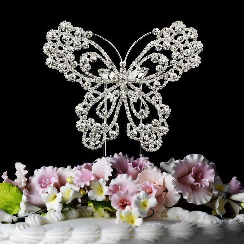 Butterfly Crystal Cake Topper Cake Jewelry by RaeBella Weddings & Events New York, http://www.amazon.com/dp/B006WS1058/ref=cm_sw_r_pi_dp_81m-rb0P48Q4V