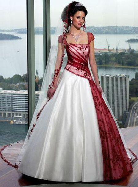 732172d7ea3 white and red wedding dresses