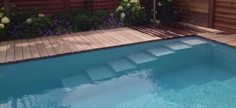 pooltreppe salzelektrolyse salzwasser pool harms m ller pinterest mein garten umbau und. Black Bedroom Furniture Sets. Home Design Ideas