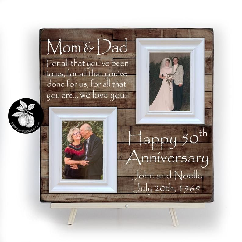 42 Wedding Anniversary Gift: 50th Anniversary Gifts For Parents Frame, 25th Wedding