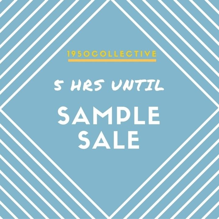 Our summer kickoff surprise for y'all: SAMPLE SALE TONIGHT AT MIDNIGHT EST. To get first access sign up for our email list at 1950collective.com shop at 1950collective.com 10% profits donated to charity we ship worldwide
