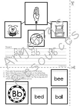 Alphabet Worksheets: Letters in Sign Language