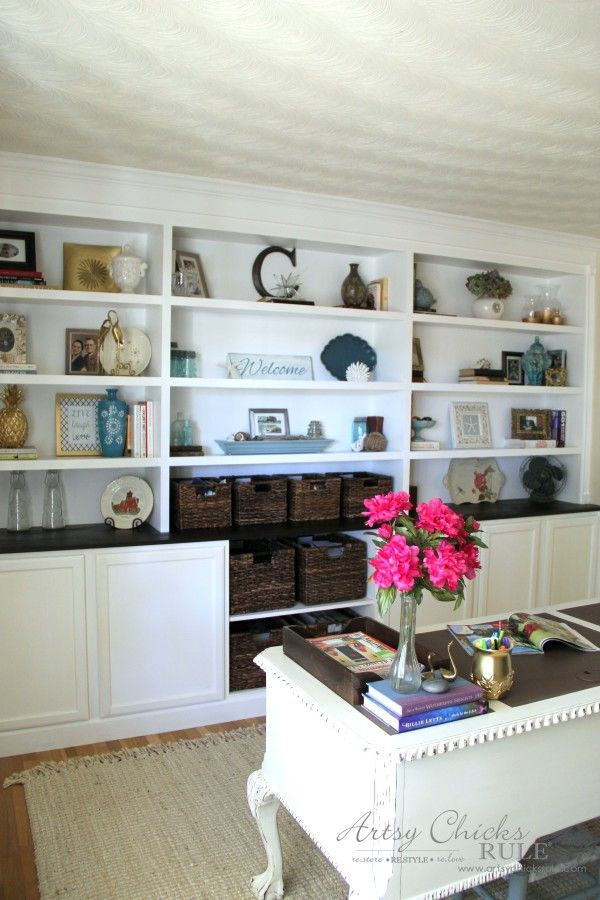 Diy Bookcase Tutorial Diy Built In All The Details