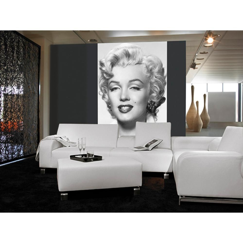 Ideal Decor 100 In X 72 In Marilyn Monroe Wall Mural Marilyn