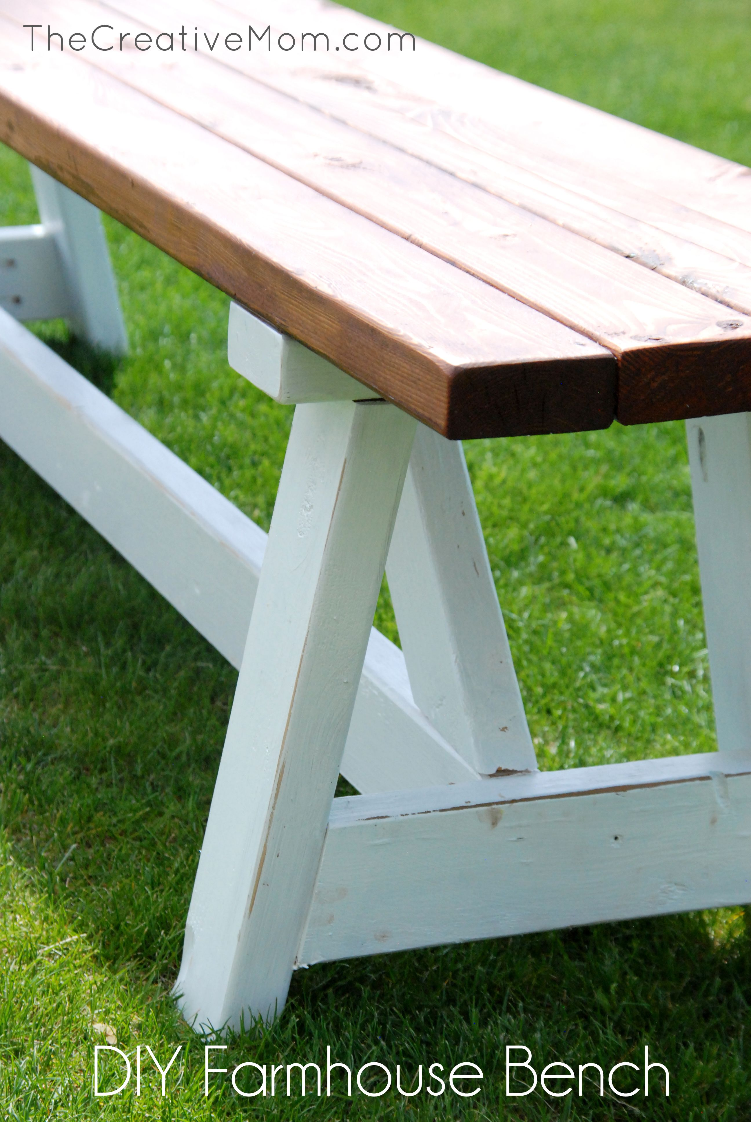 how to build a farmhouse bench | Diy | Pinterest | Bancos y Jardín