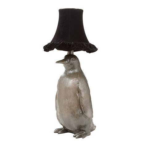 Beautiful Designer Metallic Penguin Lamp