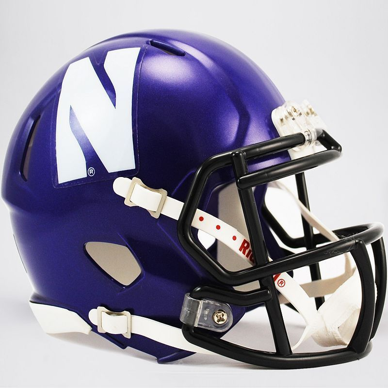 Riddell Northwestern Wildcats Revolution Speed Mini Replica Helmet, Purple