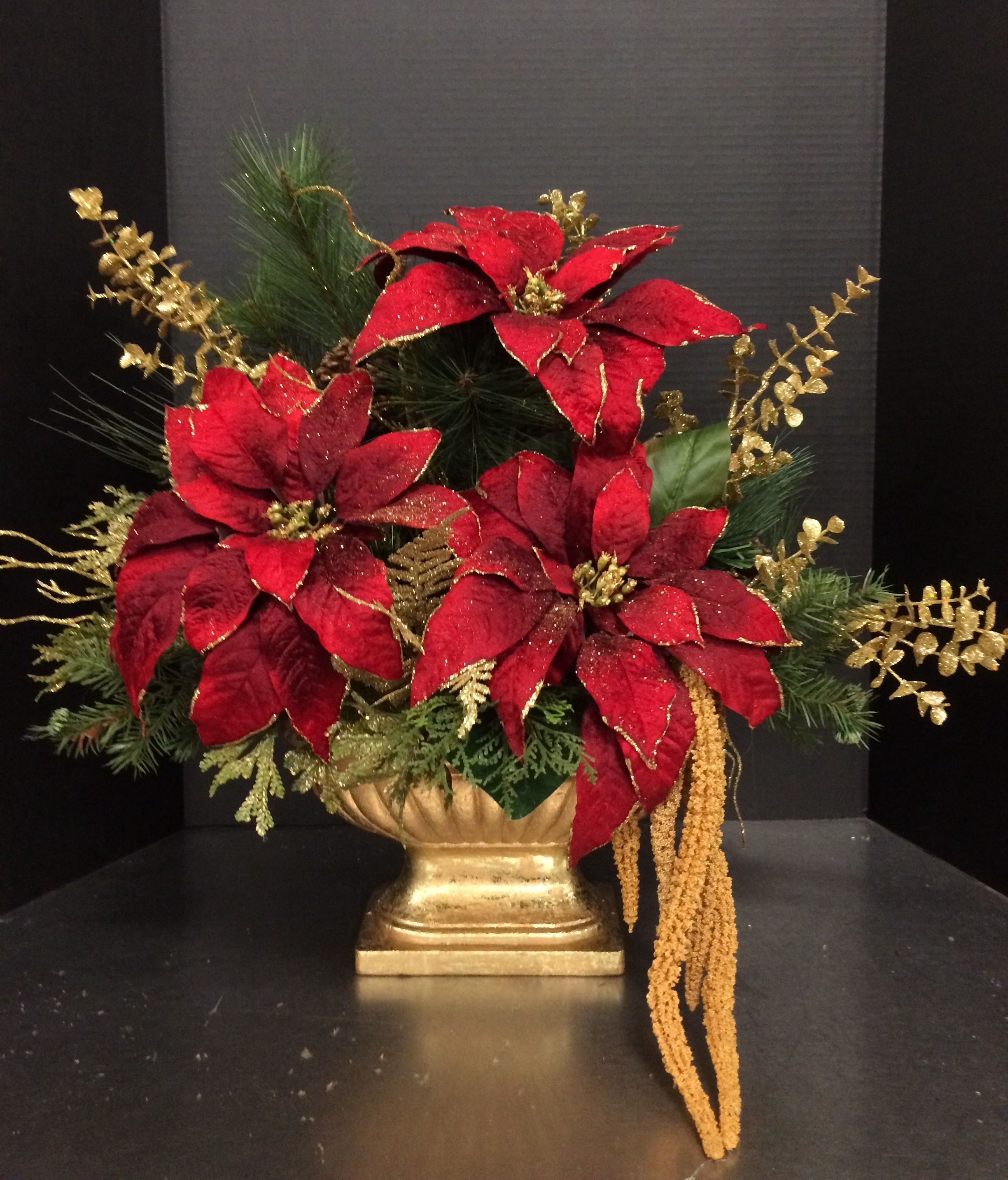 Traditional Poinsettia 2016 by Andrea