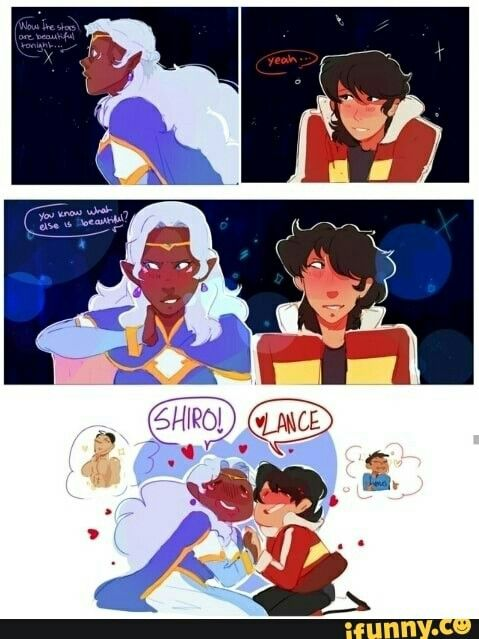 I can totally see Keith and Allura fishing about Shiro and ...