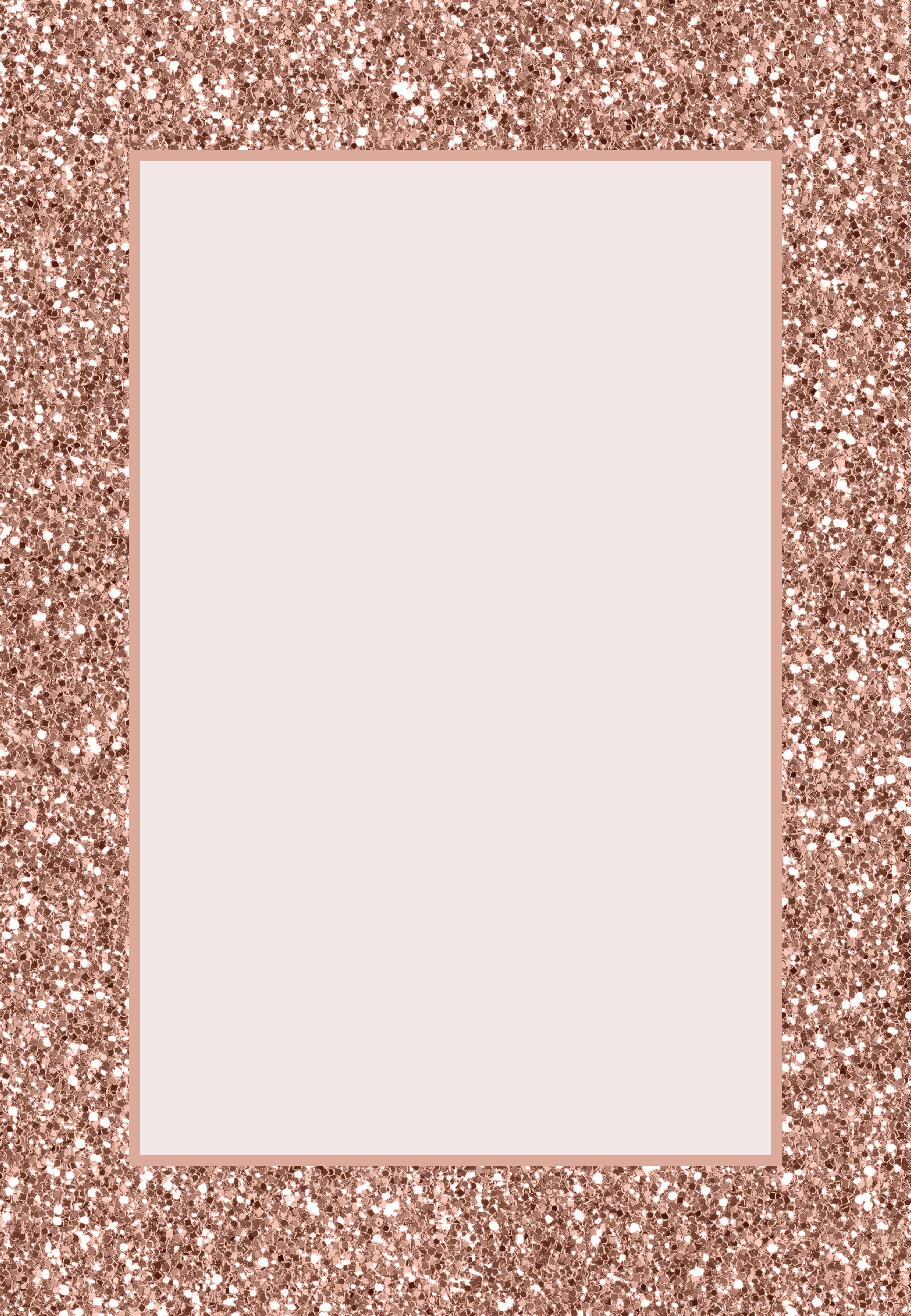 Rose Gold Glitter Invitación De Cumpleaños Gratis
