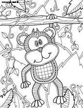 Monkey Coloring page | Monkey coloring pages, Animal ...