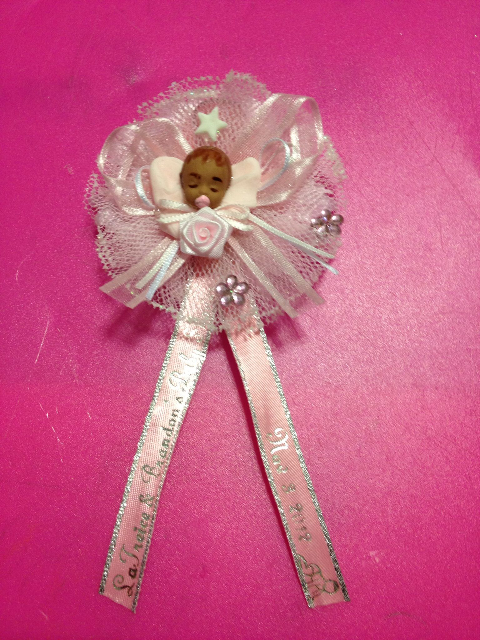 Baby Shower Capia Corsage Guest. Craft Created