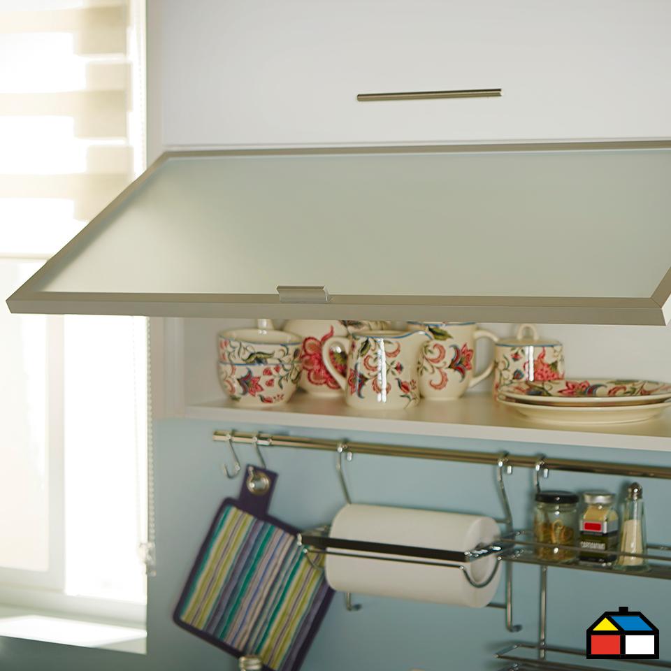 Home collection mueble mural horizontal vidrio 80 x 35 cm for Muebles de cocina anos 80