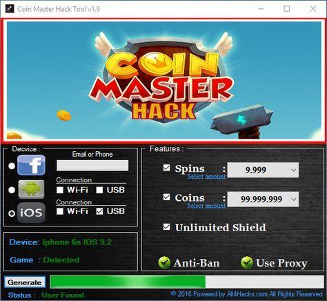 coin master hack tool v1 9 pc