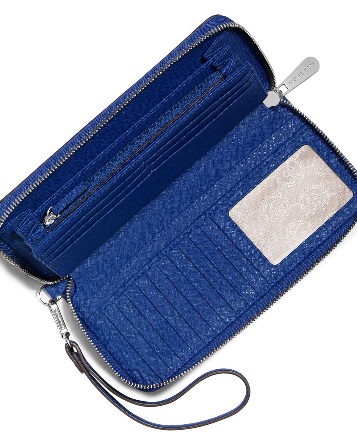 46f14f6920c1 MICHAEL Michael Kors Jet Set Travel Continental Wristlet Wallet, Electric  Blue