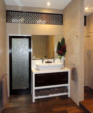 CUTOUT Laser Cut Wenge Crown Cut Timber Veneer Veneered MDF - Bathroom privacy panels