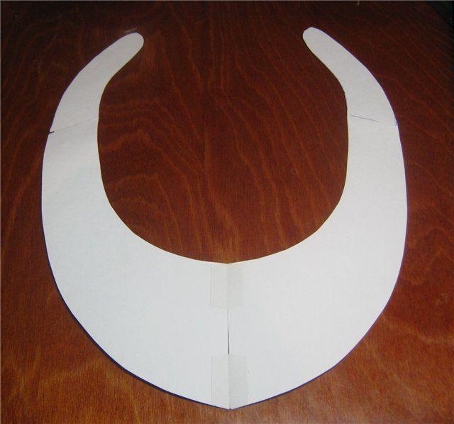 Выкройка для колье вышивки