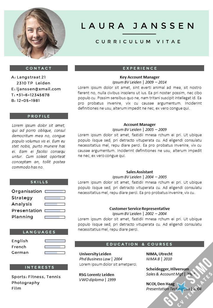 CV Template Milan Modelos de currículo, Cv online