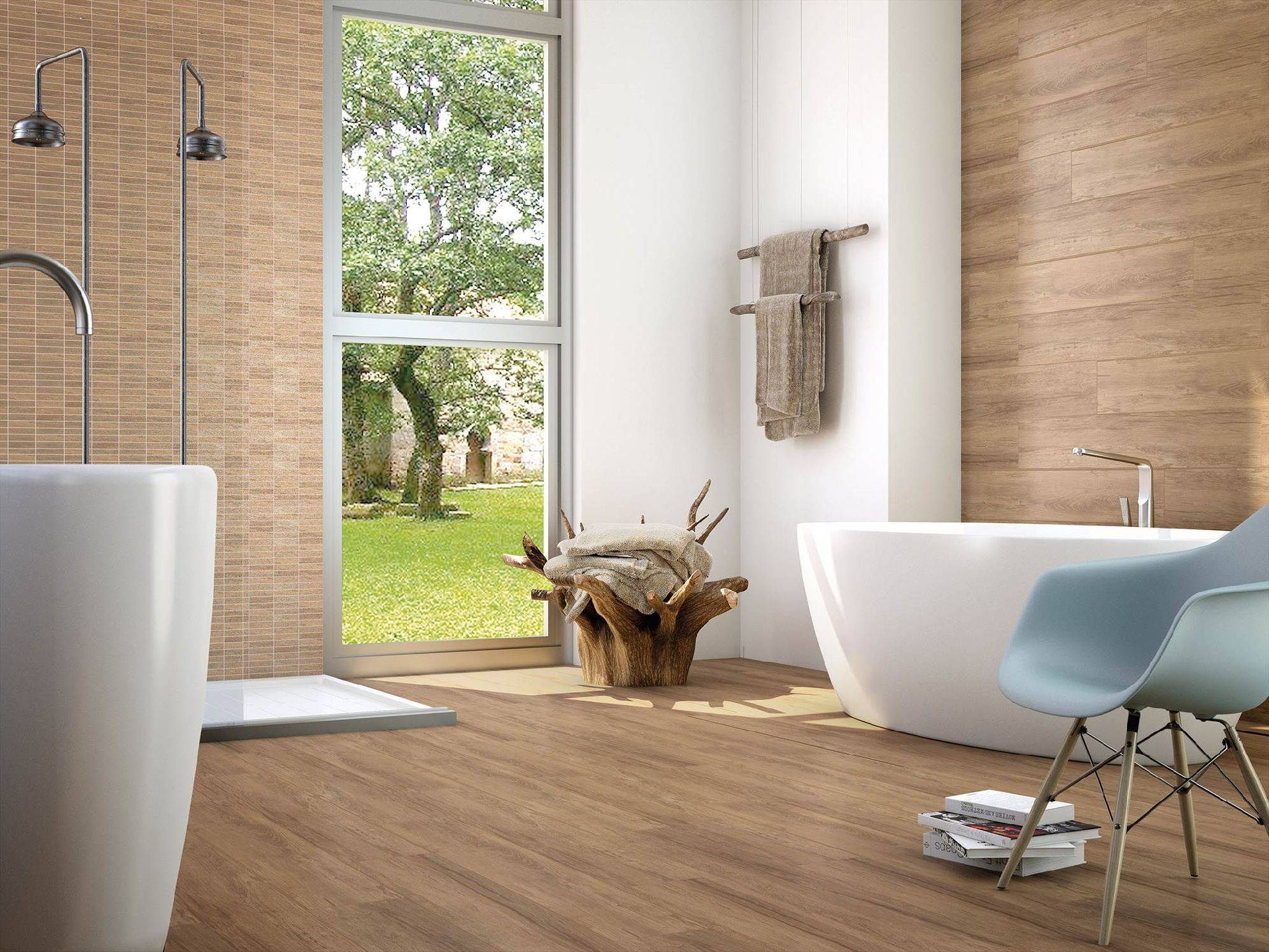Bathroom tile wood look - Casona Beige 8 X 48 Porcelain Wood Look Tile