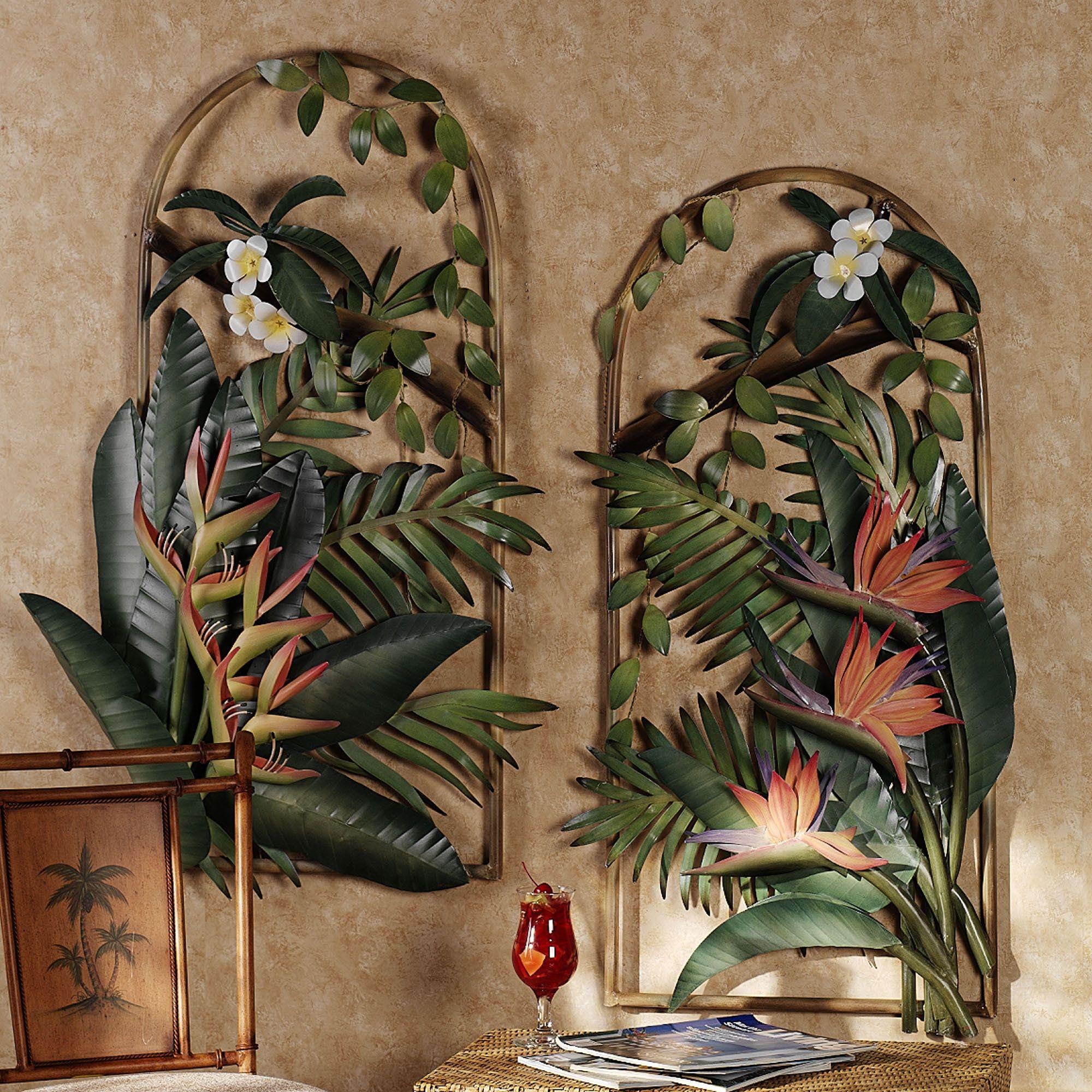 Tropical gardens arches metal wall sculptures house decor