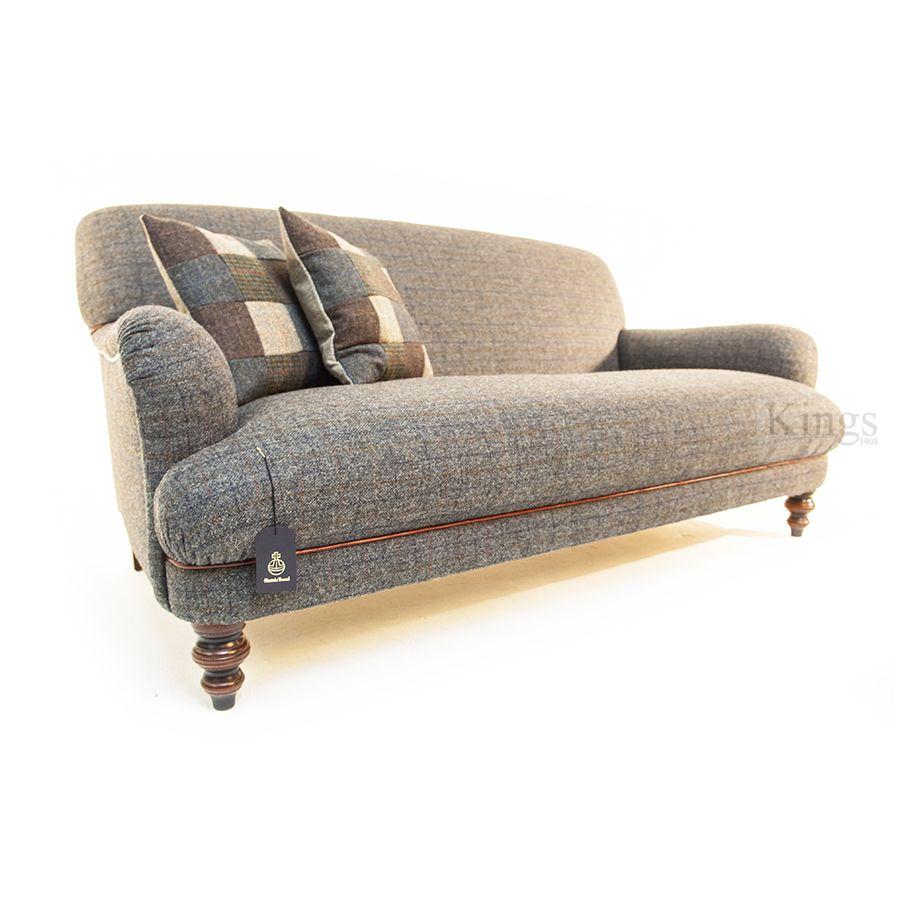 Tetrad Upholstery Harris Tweed Braemar Sofa In Winter Check With