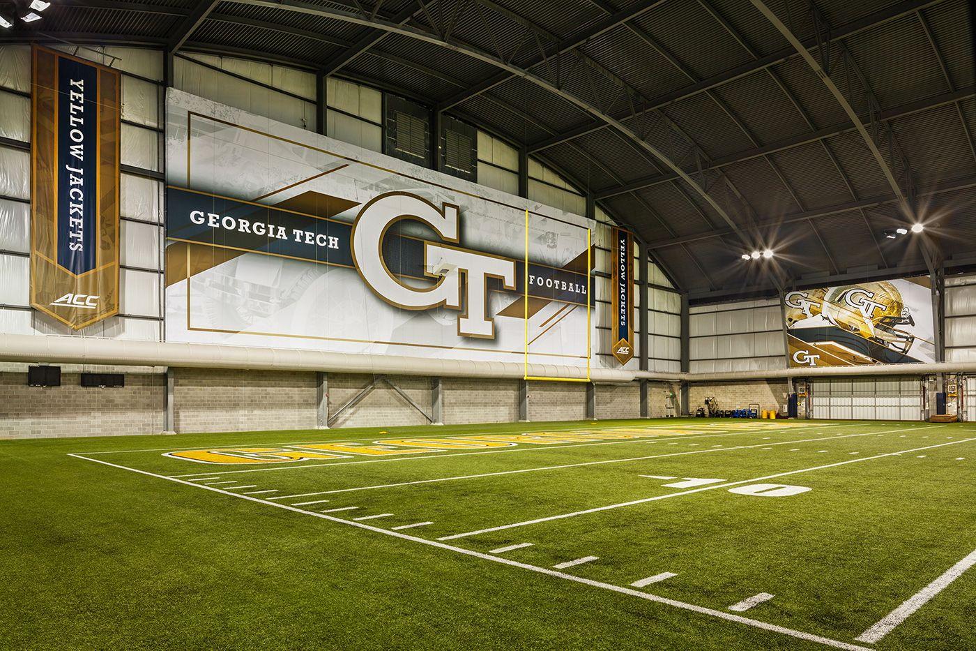 Georgia Tech Indoor Football Facility On Behance Georgia Tech Football Facility