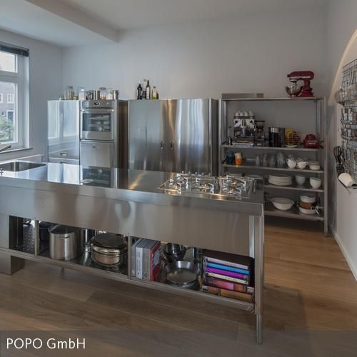 In Edelstahl kochen Küchendesign, Küche und Küchen rustikal