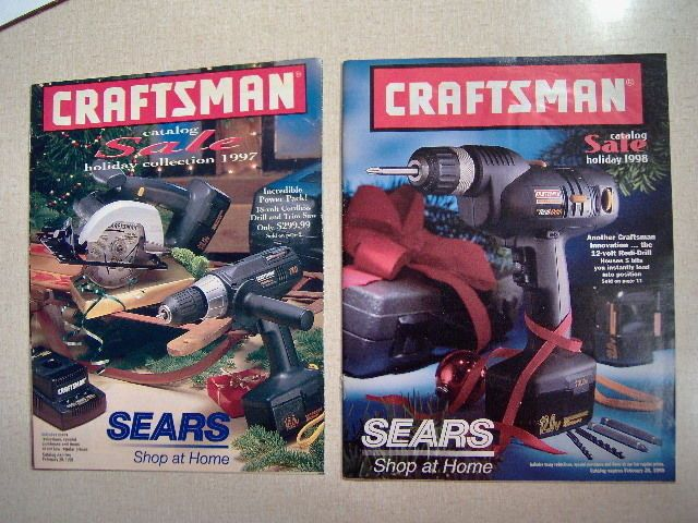 awesome Two Craftsman Sears Holiday Sale Tool Catalogs 1997 / 1998   Check more at http://harmonisproduction.com/two-craftsman-sears-holiday-sale-tool-catalogs-1997-1998/