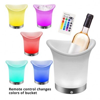 Light up your party with this really cool LED ice bucket. It has an interior battery-powered LED light that makes your bottle sparkle and shine. #scottsmarketplace