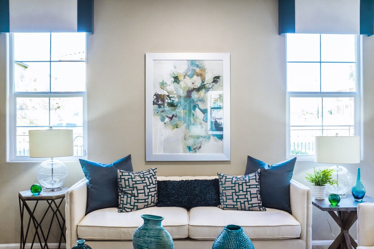Want to enjoy peace? Add a calming effect to your living room with ...